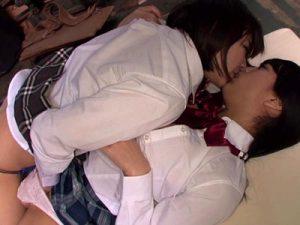 【AV女優レズ動画】篠宮ゆり&芹沢つむぎのロリAV女優コンビが演じるJKカップルのレズプレイ